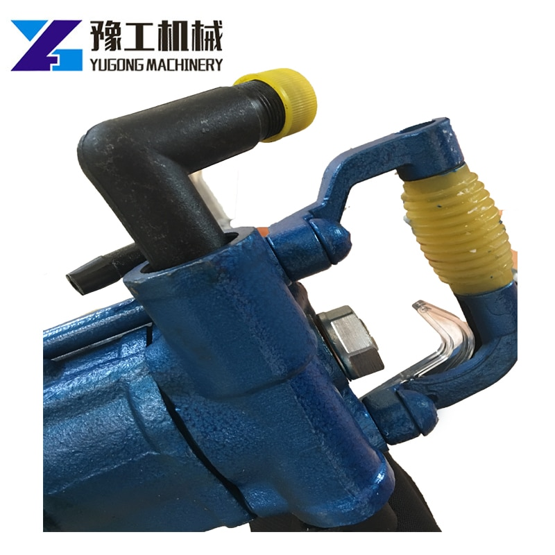 Air-Leg Rock Drill Hand Held Portable Pneumatic Electric Hammer Drill Can Play 6 Meters Deep 4cm Hole Depth 600mm enlarge