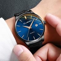 21 Colors CUENA Watch Men 2020 Business Mens Watches Calendar Watch For Men Stainless Steel Wristwatch Man reloj hombre montre