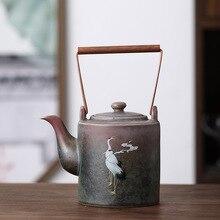 Chengxiang Ti Liang Hu horno porcelana de té gruesa Dan Hu Liang Shui Hu Retro minimalista tetera pórtico vieja olla Tetera de cerámica