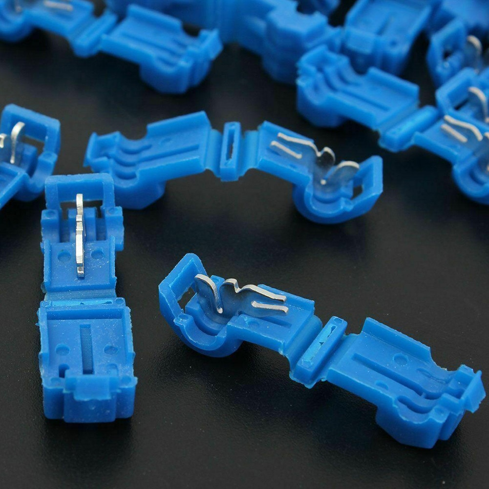 lot100pc self locking electrical cable connector quick splice lock wire terminal 2 pins electrical cable connectors quick splice 60PCS Quick Joint Line Connector Terminals Quick Splice Connectors Lock Wire Electrical Crimp Cable Male Quick Disconnect