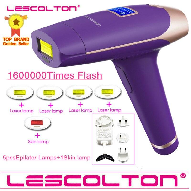 الأصلي Lescolton 6in1 1600000 نابض إزالة الشعر بالليزر الشعيرات جهاز إزالة الشعر الدائم IPL الليزر لنزع الإبط