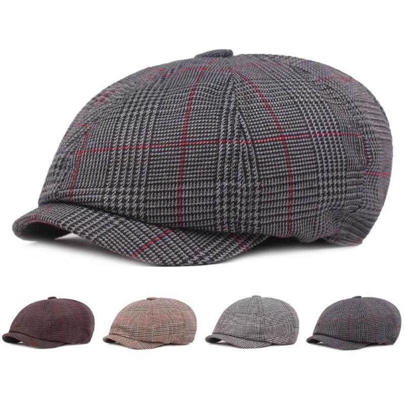 Adult Men Vintage Hat Simple Cotton Newsboy Caps Literary Youth Bailey Hats Casual Fashion Retro Male Bone Snapback Cap