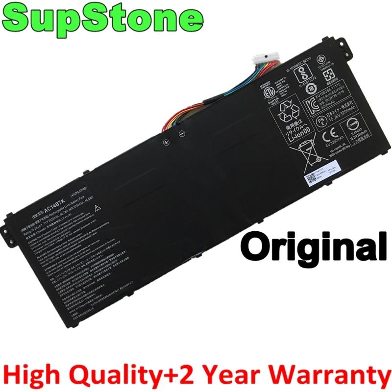 SupStone حقيقية الأصلي AC14B7K 41CP5/57/80 بطارية الكمبيوتر المحمول لشركة أيسر تدور 5 SP515-51GN ، سويفت SF314-52 ، نيترو 5 تدور NP515