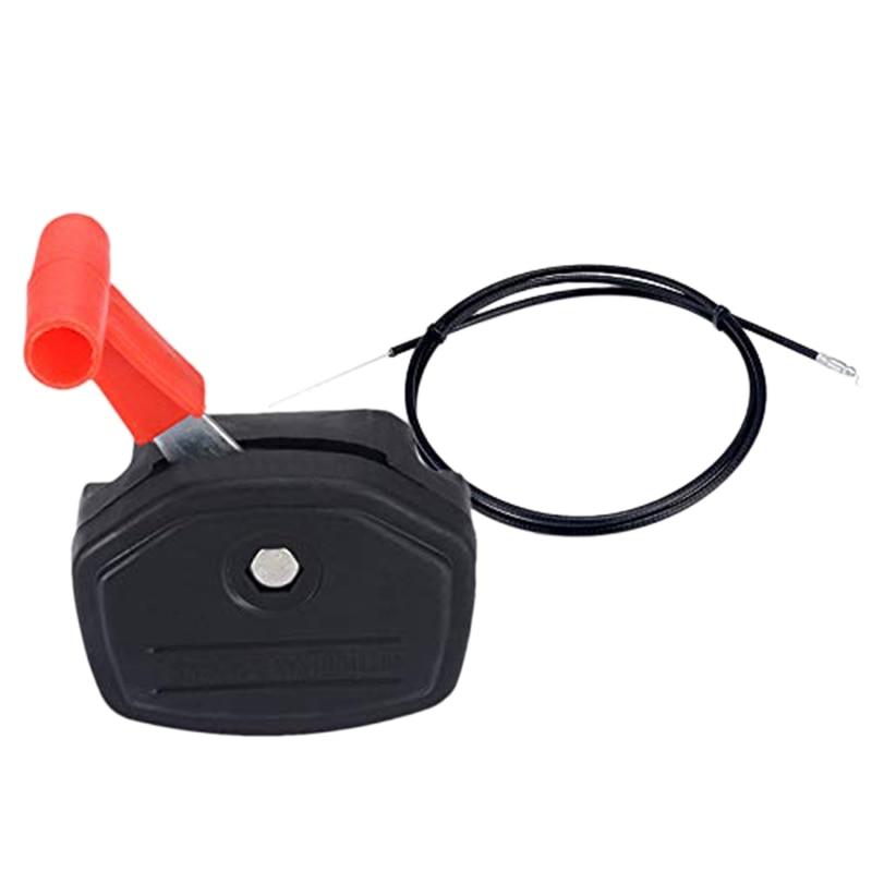 Manija de Control de palanca de interruptor Universal y Kit de Cable de acelerador de 56 pulgadas para cortacésped, partes de cortacésped, herramientas de jardín