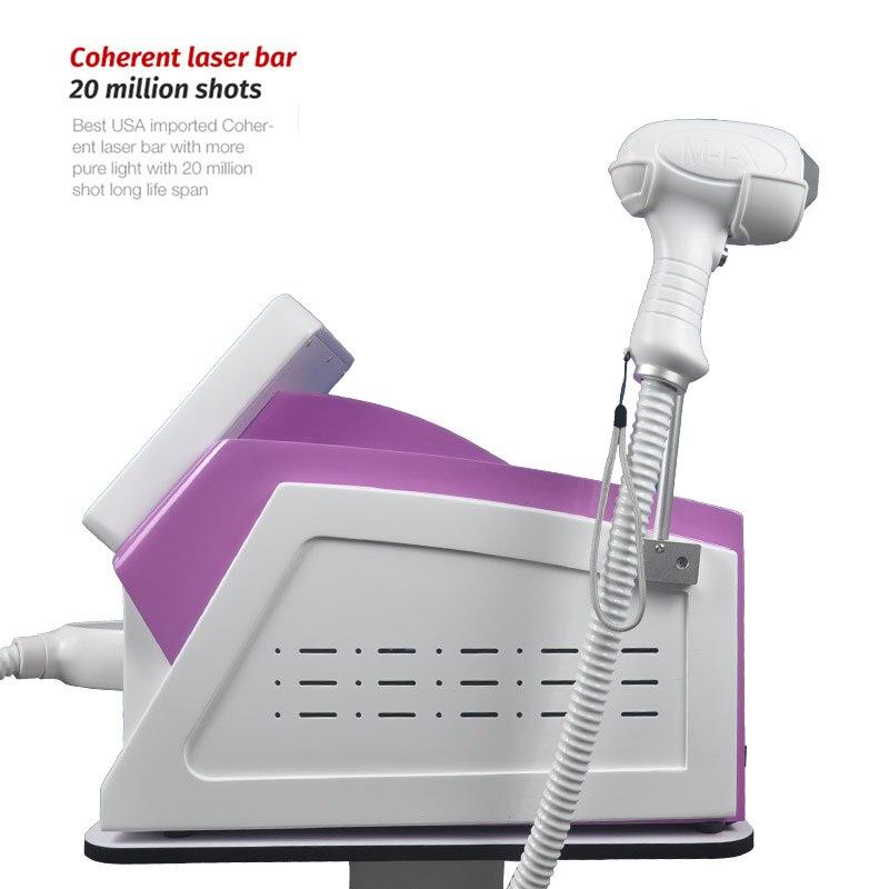 Купить с кэшбэком 2021 Newest Painless Permanent Hair Removal Machine 755nm 808nm 1064nm 3 Wavelength 20 Million Rounds Of Semiconductor Laser CE