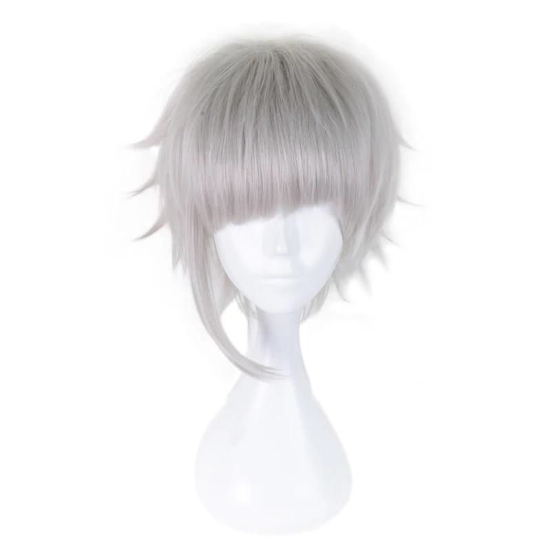 High Quality Bungo Stray Dogs Nakajima Atsushi Short Silver Gray Heat Resistant Synthetic Hair Anime Cosplay Costume Wig