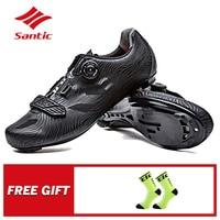 Santic גברים של Pro נעלי רכיבה כביש אופני מנעול נעלי ניילון בלעדי TPU לנשימה נעילה עצמית נעלי ספורט אופניים רכיבה ציוד
