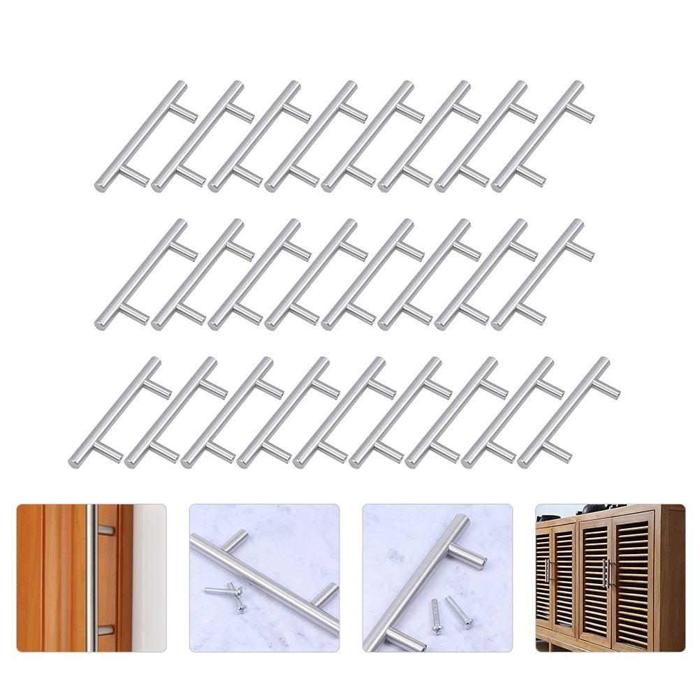 30 قطعة باب من الفولاذ المقاوم للصدأ المقابض خزانة مقابض خزانة تسحب للمنزل
