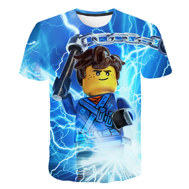 Funny Robloxing-Game 3D Print T Shirt Boys Cartoon Short Sleeve Children T-Shirts Summer Kids Girls