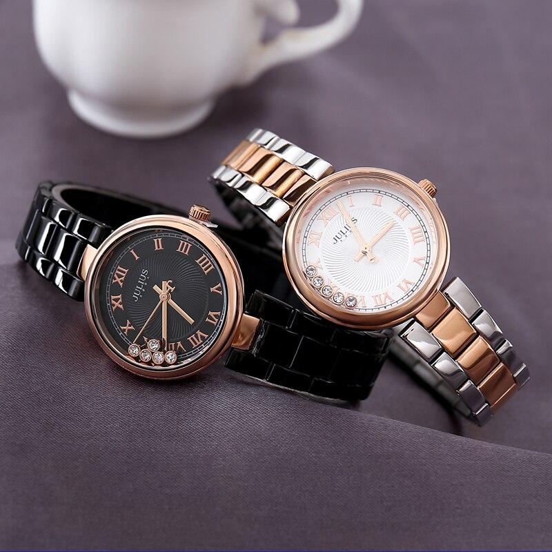 Julius Women Watches JA-1236 Stainless steel band Bracelet Ladies Wrist Female Clock Quartz Chain Moving Rhinestones Gift Box enlarge