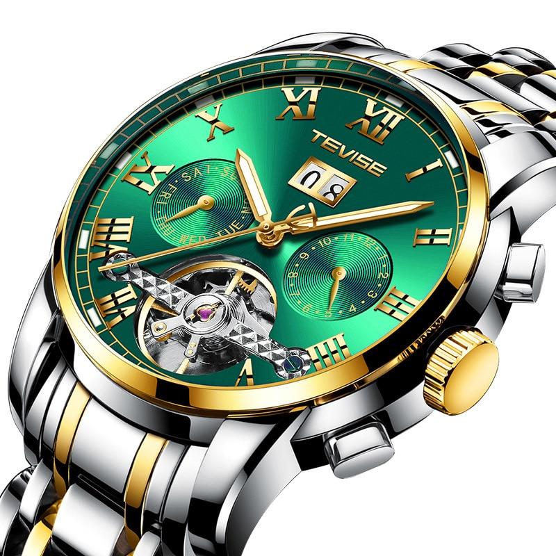 Tourbillon men's watch fashion mechanical watch multi-function waterproof men's watch enlarge