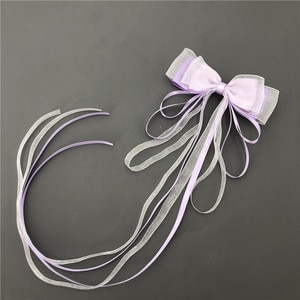 Free shipping Fashion women bow ribbon hairpins girl's Solid color hairclips korea style side clip hair accessories