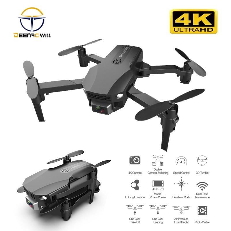 R16 Mini RC Drone 4K HD Cámara WiFi Fpv presión del aire mantenimiento de altitud 12 minutos batería vida plegable Quadcopter regalos Juguetes