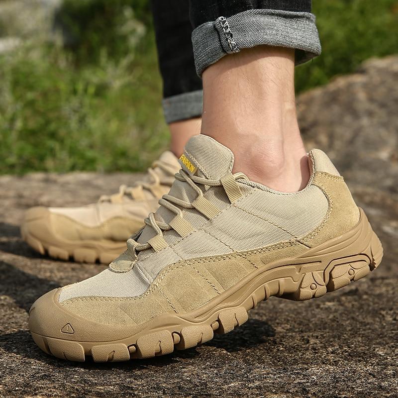 Мужские походные туфли на открытом воздухе, водонепроницаемые дышащие тактические технические кроссовки для пустынных тренировок, нескользящая обувь для трекинга