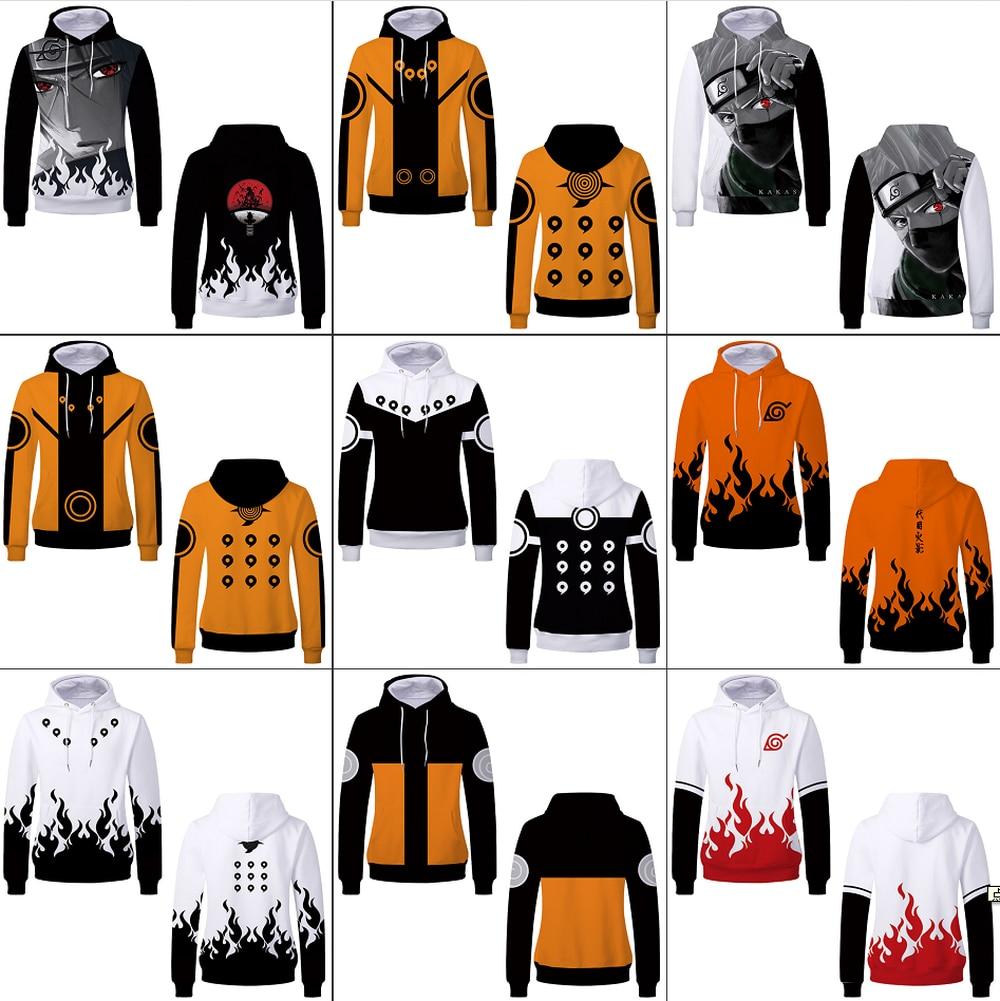 Anime naruto uchiha itachi 3d impressão pulôver hoodies camisolas casuais hatake kakashi streetwear meninos meninas jaqueta traje casaco