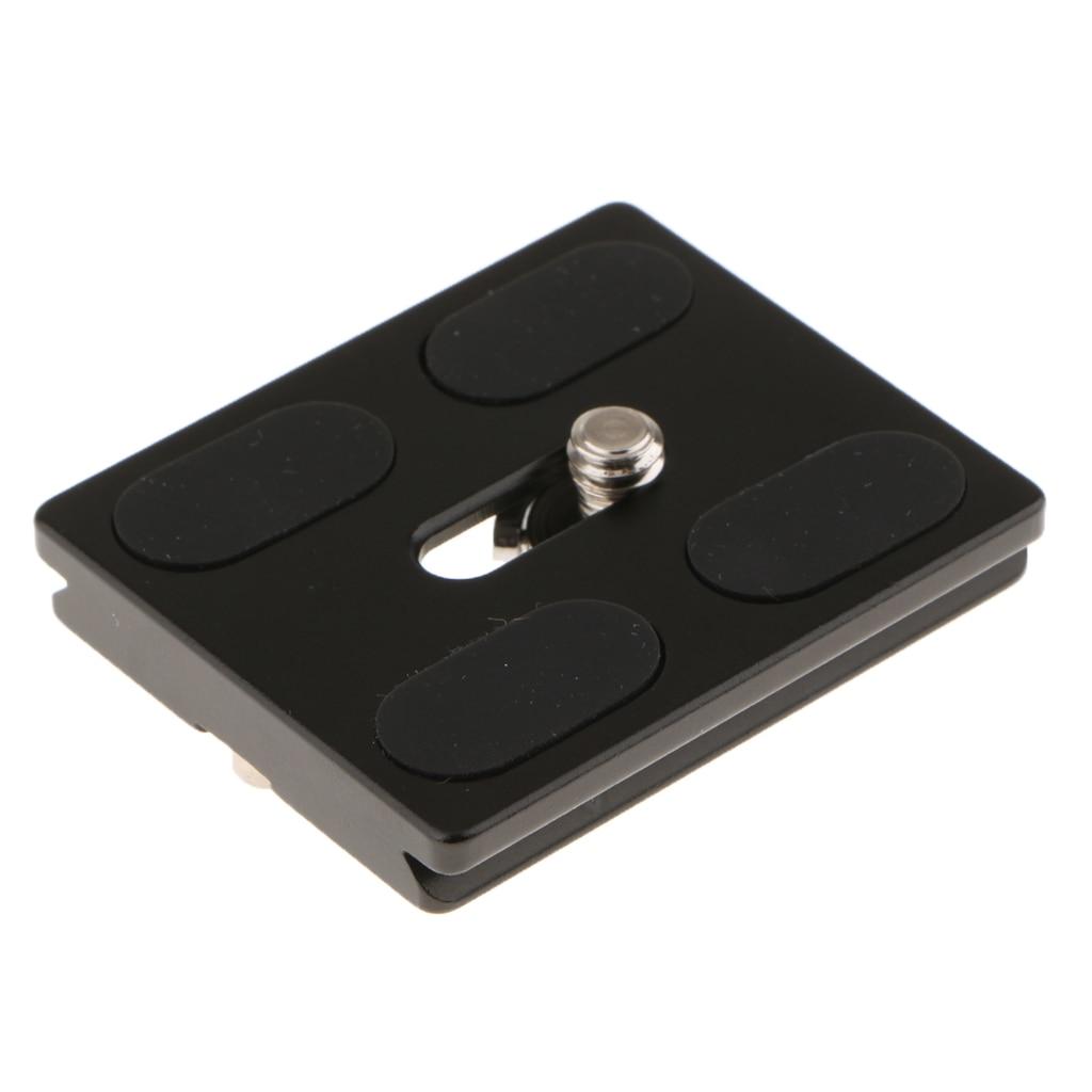 QAL-50 arca-placa de liberação rápida de alumínio do estilo suíço para a câmera digital, preto