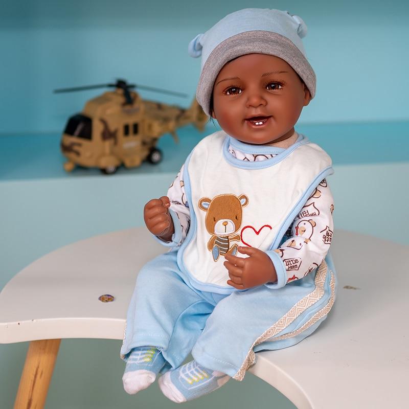 تولد من جديد الطفل دمية عدة 55 سنتيمتر ألعاب لطيف ل الحقيقي الوليد بيبي هدايا عيد الاطفال اللعب سيليكون الفينيل القطن الجسم