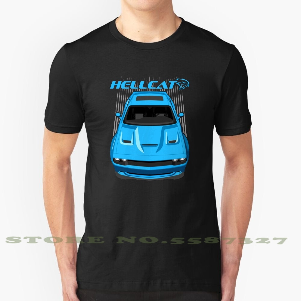 Challenger Hellcat - ( B5 azul moda Vintage camiseta T camisas Mopar Challenger Chally Sxt Rt Super Bee Scat Pack Srt Srt8