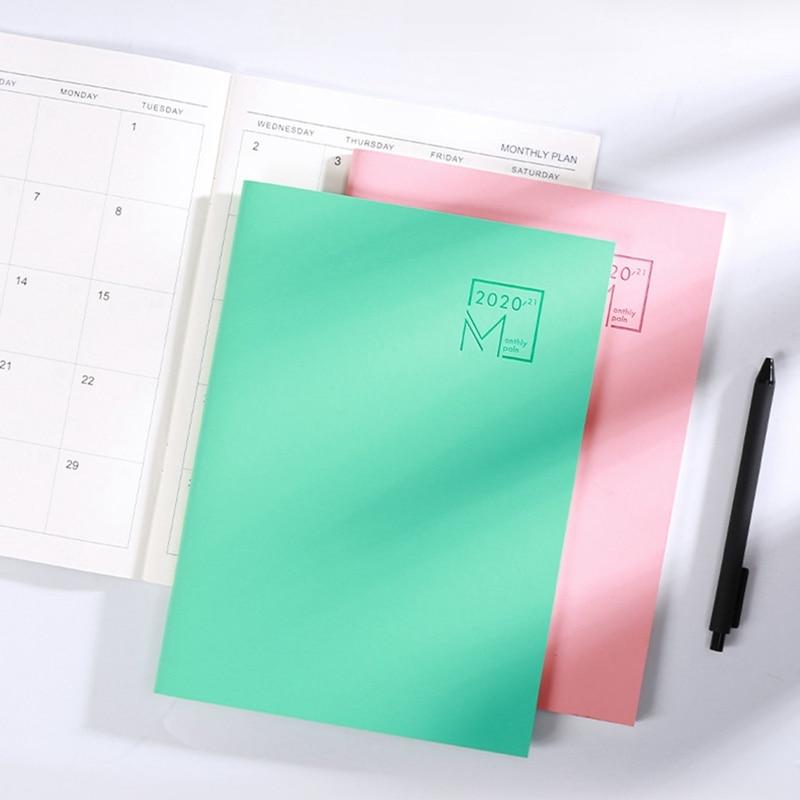 2021 Año Calendario planificador mensual meses diario de cuero libreta Personal del planificador, organizador de oficina de negocios y B5