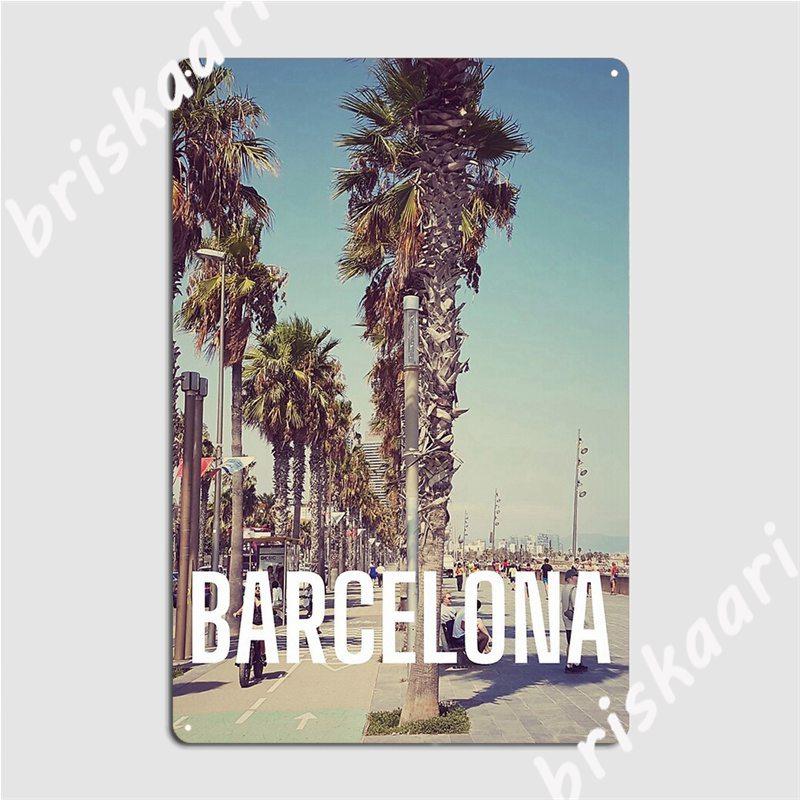 Carteles de Metal de Barcelona, diseño de cueva, Bar y Club, decoración,...