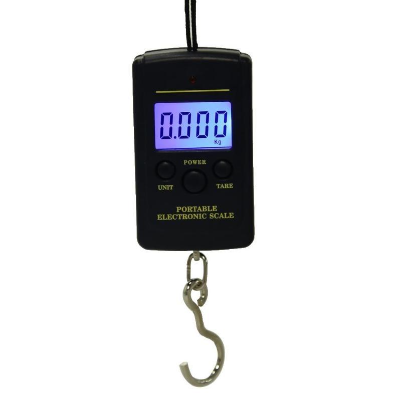 LED portátil 40kg/10g colgante de Pesca Digital bolsillo gancho escala pescado aparejos Pesca Iscas herramientas accesorios de Pesca