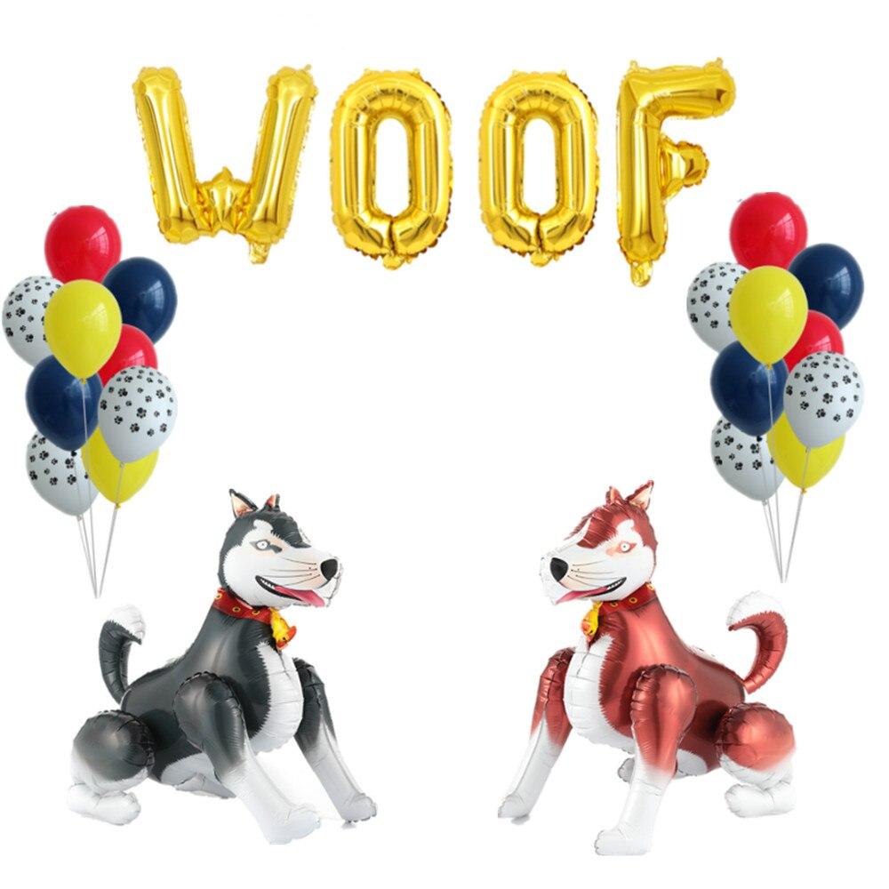 4D de mascotas perro globo pata de Animal Globos Decoración Para temática de fiesta niños juguetes clásicos Globos helio de aire inflable bolas de