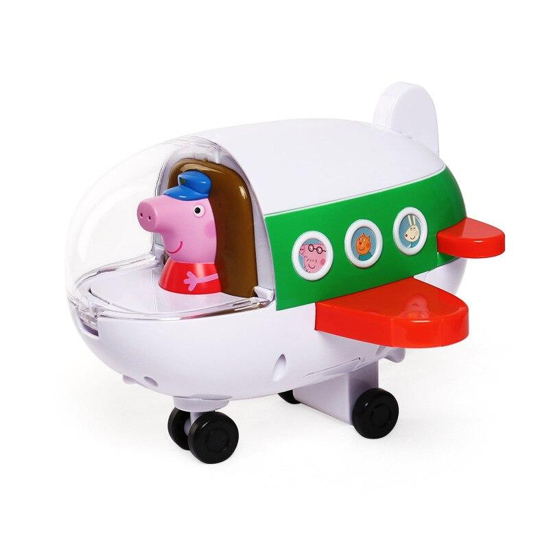 Peppa Pig, juguetes musicales, modelo de avión, George, modelo de figura de acción, juguete educativo para primera infancia, juguete para regalo educativo