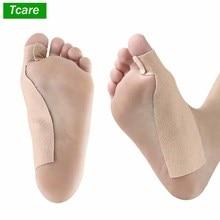 Tcare 1Pcs Fuß Pflege Atmungsaktiv T Förmigen Komfortable Fuß Kappe Band Corrector Hallux Valgus Selbst Klebe Verband