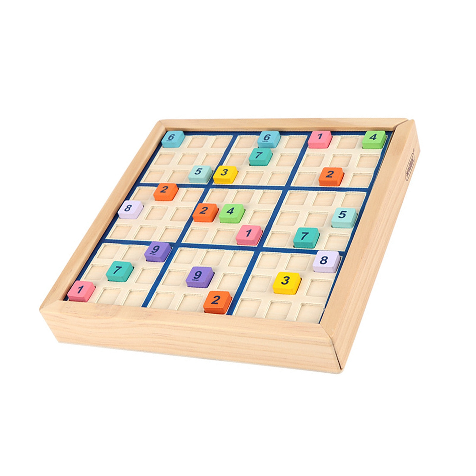 Sudoku Toy Educational Intelligent Wooden Number Board Game Toys For Children Learning Sudoku Chess Beech Gift sudoku notepad easy to medium