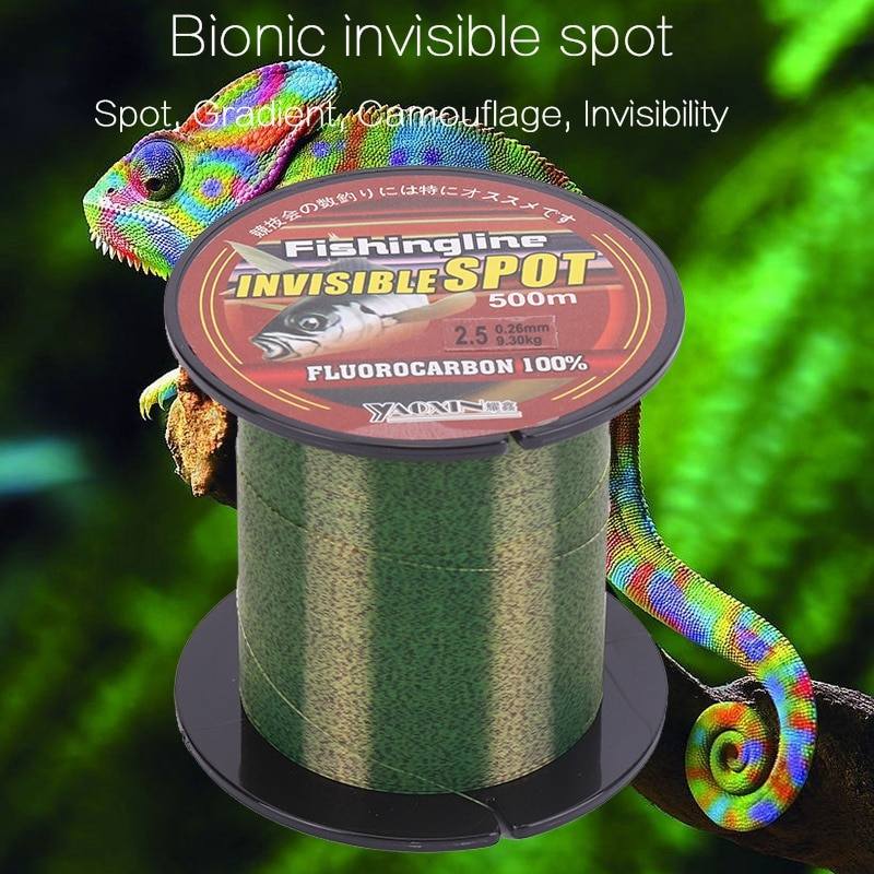 Fishing Line 100/150/200/300/500M Super Strong Nylon Fishwire Flourocarbon Coated Spotted Wear-Resistant Invisible Pull Sea