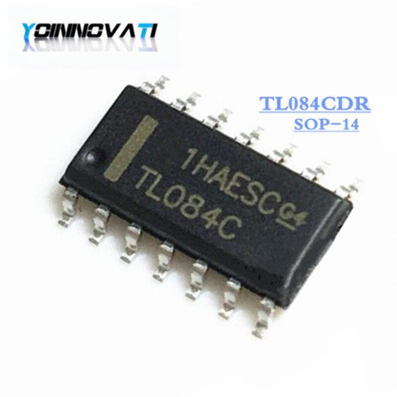 10 pçs/lote TL084CDR TL084C TL084 SMD SOP-14 Amplificador Operacional original novo