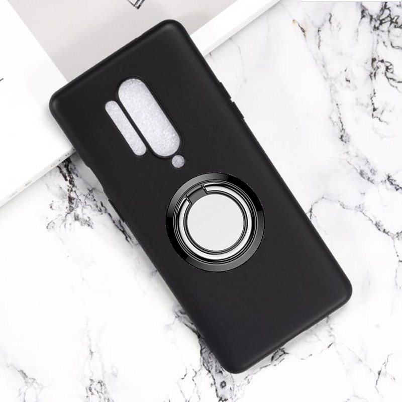 for OnePlus 8 Pro Back Ring Holder Bracket Phone Case Cover Phone TPU Soft Silicone Cases for OnePlu