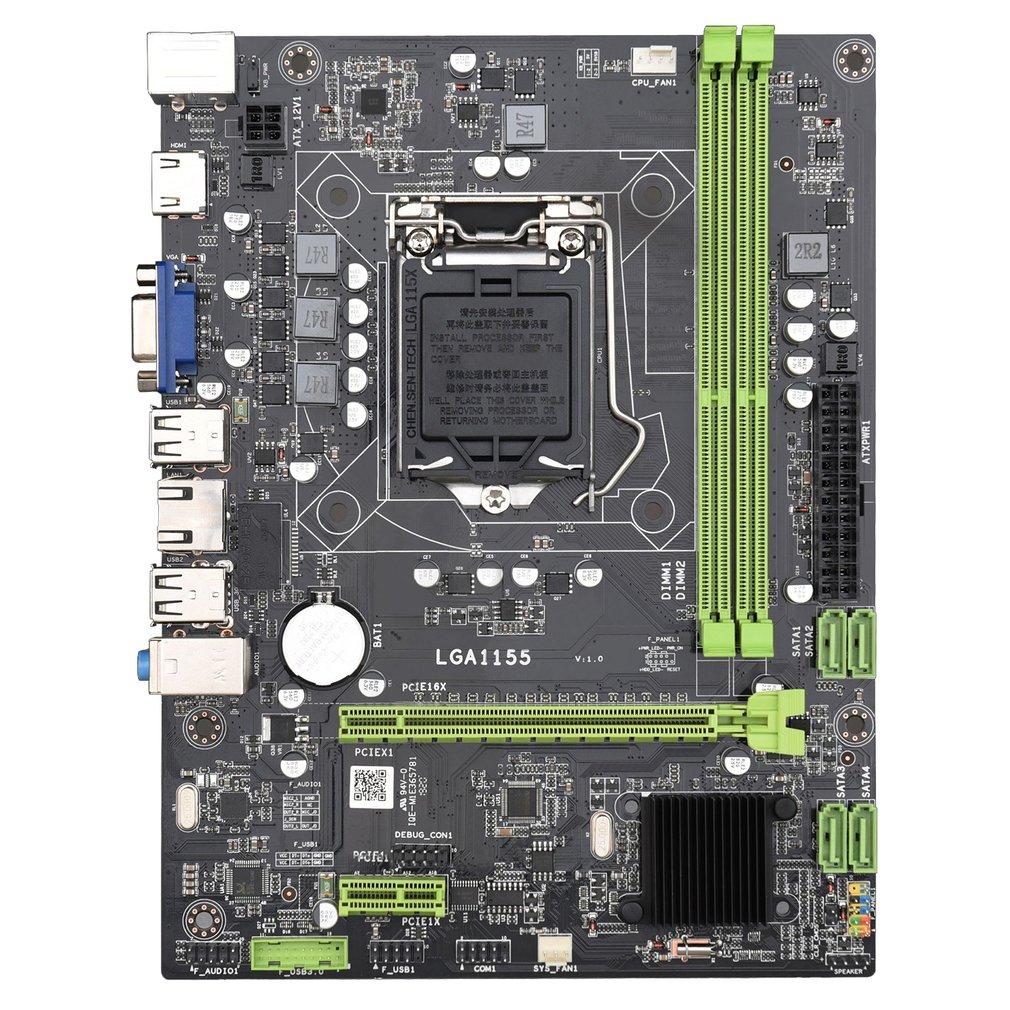 LGA1155 لوحة أم للكمبيوتر DDR3 الذاكرة مع SATA دعم إنتل كور ثنائي القناة دقيق صنعة دائم اللوحة الأم