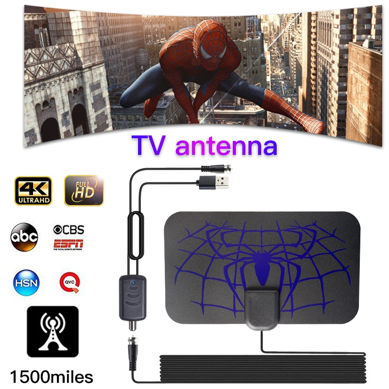 hengshanlao HDTV Antennas 1500 Miles Indoor Digital TV Antenna Aerial DVB-T2 isdb-tb Local Channel Broadcast receiver support 4K