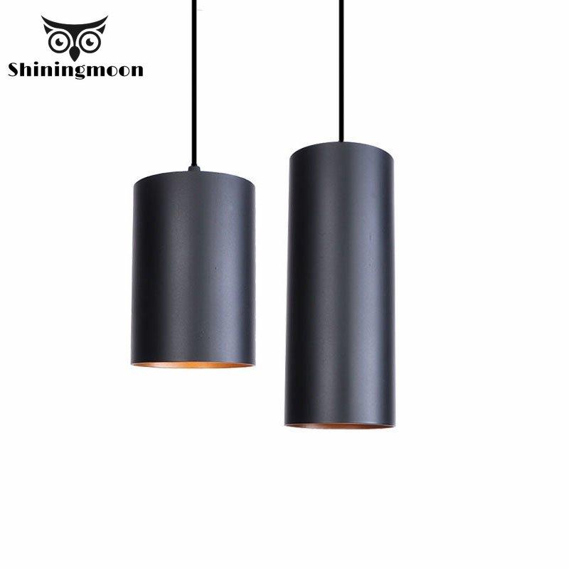 Lámparas colgantes clásicas de cilindro nórdico para uso Industrial, lámparas Led para Loft, comedor, decoración para salón, cocina