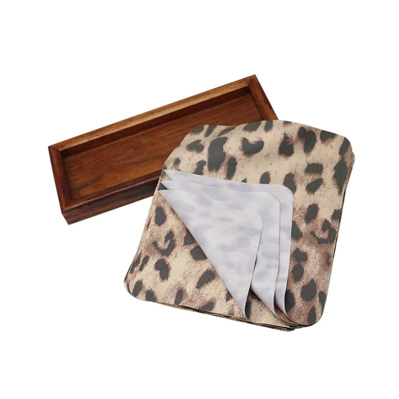 5 alta qualidade leopardo impressão microfibra moda óculos de pano para limpeza lente da câmera e desinfecção óculos de limpeza coágulo