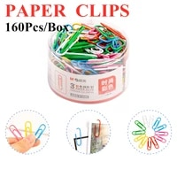 paper clips office learn student stationery mg metal 160 pcsbarrel color pcs a pack cute small design large mg abs91698