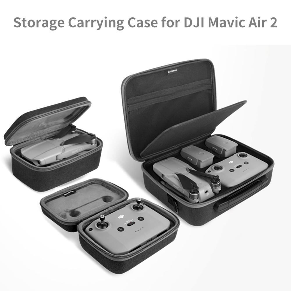 Bolsa de Estuche de transporte portátil Multi-bandolera funcional para Dron, bolsa de almacenamiento de control remoto para DJI Mavic Air 2, funda