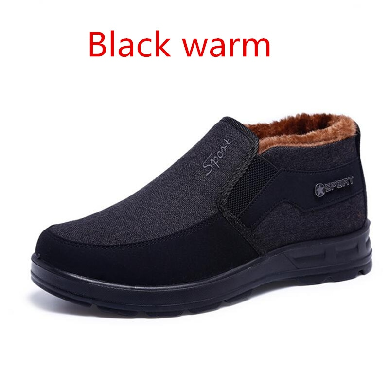 2020 New Winter Men's Boots Middle-aged and Elderly Thickened Warm Casual Boots Large Size Non-slip Soft-soled Snow Boots