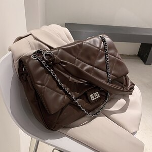 Winter Large PU Leather Crossbody Bags For Women 2021 Branded Shoulder Handbags And Purses Travel Luxury Trend Hand Bag