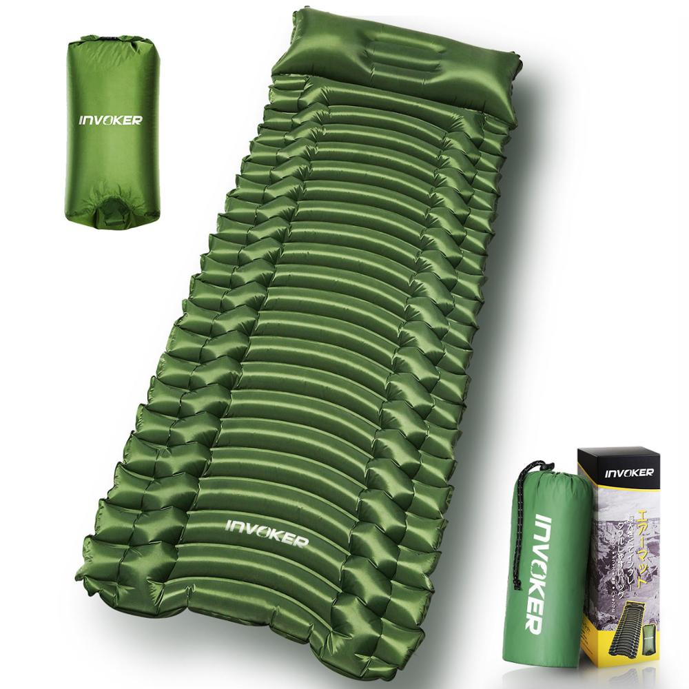 Outdoor Inflatable Air Bed Cushion Sleeping Pad Waterproof Air Mattress Portable Nylon Inflatable Mattress Camping Sofa X331B недорого