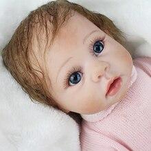 NPK Reborn bébé silicone poupées mignon fille corps doux 22 pouces bebes reborn realista bonecas cadeau pour enfants Playmates jouets