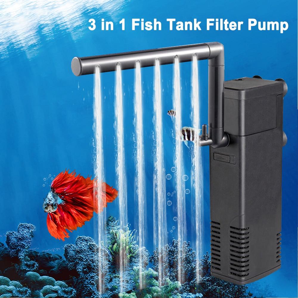 Погружной фильтр для аквариума, внутренние фильтры для аквариума, фильтр-насос 3 в 1, биологические фильтры с распылителем, 3W/4 Вт/8 Вт/22 Вт