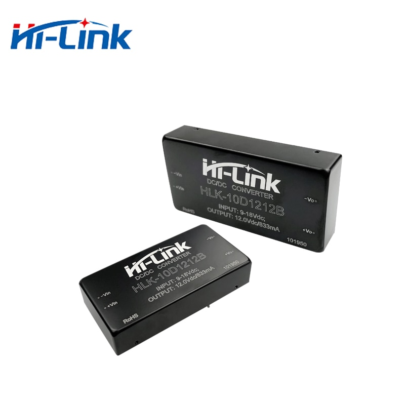 Бесплатная доставка 100 шт dc HLK-10D1212B 5V 8.3A передача 86% Tp изолированный блок питания с DIP-4 маленький размер