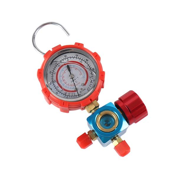 Refrigerant Manifold Gauge Manometer Valves Pressures Gauge Air Conditioner Tool R410a QJS Shop