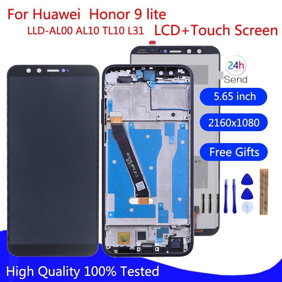 ЖК-дисплей для Huawei Honor 9 lite, сенсорный экран LLD-L31 дюйма, дигитайзер для Honor 9 lite LLD-AL00, AL10, TL10, L31, запасные части дисплея