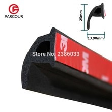 1 метр P Тип 3 м клейкая Автомобильная дверь боковая Нижняя уплотнительная лента звукоизоляция и пылезащитная Резина полоса необходимые аксессуары