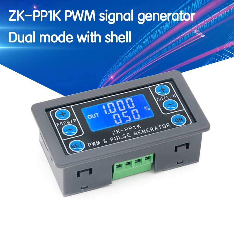 LCD Digital PWM Signal Generator pulse frequency duty cycle adjustable square wave rectangular wave signal function generator 1 channel signal generator pwm pulse frequency duty cycle adjustable module lcd display 1hz 150khz 3 3v 30v pwm board module