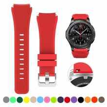 Спортивный силиконовый ремешок совместим с Samsung часы 46 мм/Huawei часы GT/Huami Amazfit 47 мм сменный Браслет для 22 мм ремешок
