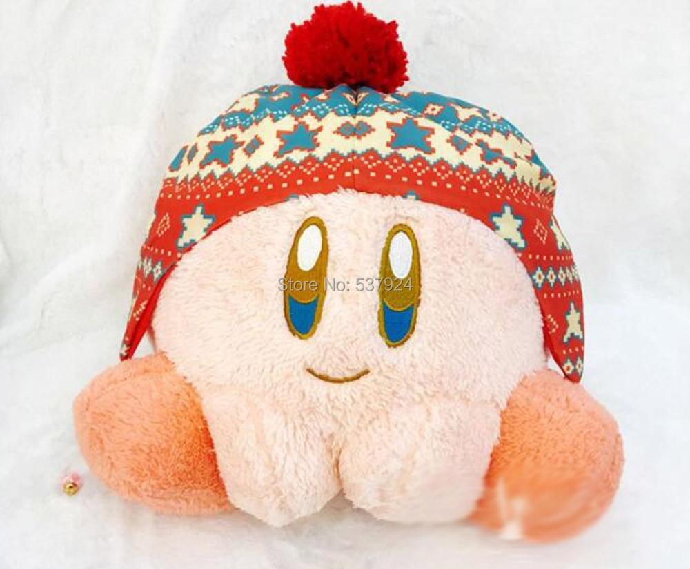 """Nueva Estrella Kirby Cosplay sombrero de invierno serie 12,5 """"32CM muñeca de felpa almohada cojín"""